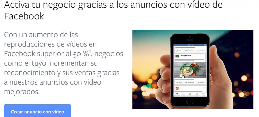 anuncios de video facebook