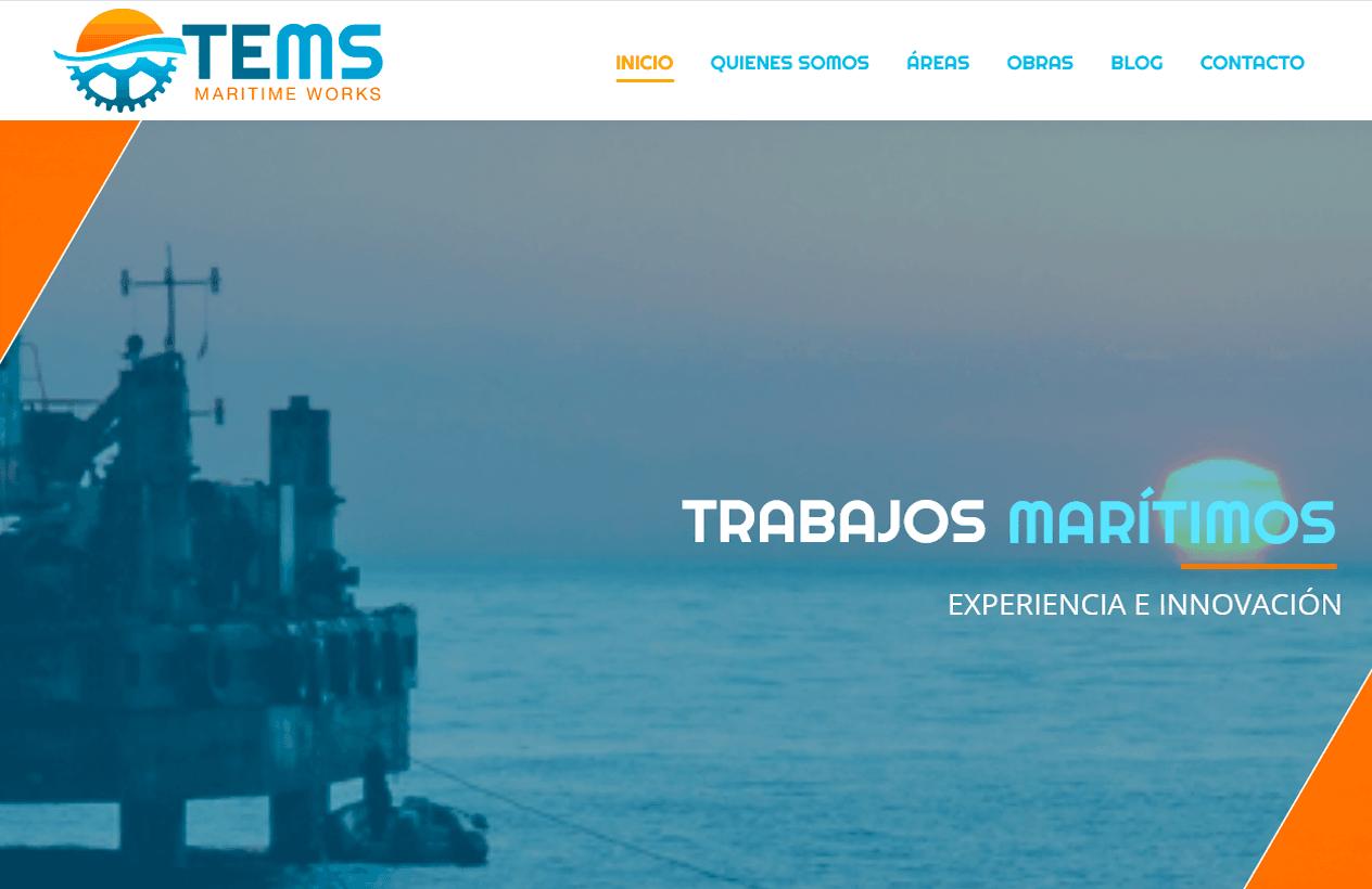 Diseño web Tems Maritime Works
