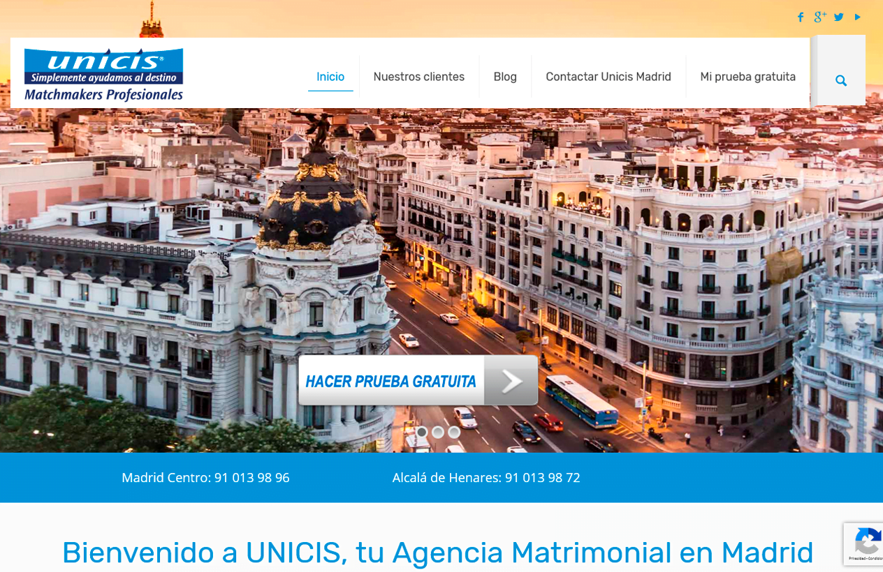 consultoría de marketing Agencia Matrimonial Unicis