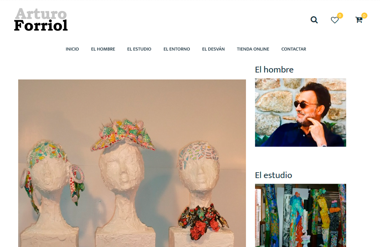 Diseño web Arturo Forriol