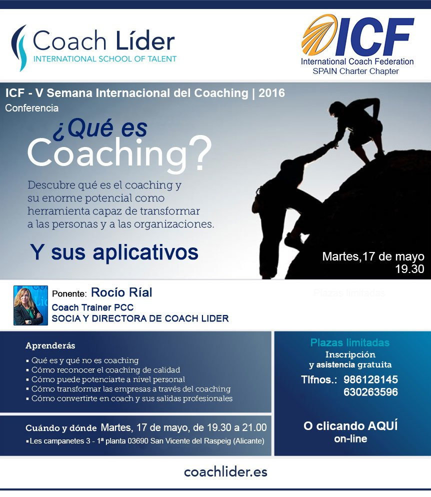 Charla gratuita Rocío Rial Coaching Alicante