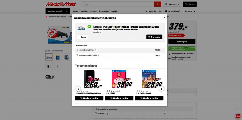 ventas cruzadas MediaMarkt